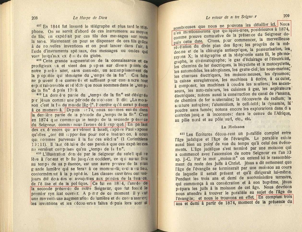 Affirmation de la pr sencede christ sur la terre depuis 1874 - Css wrapper div ...