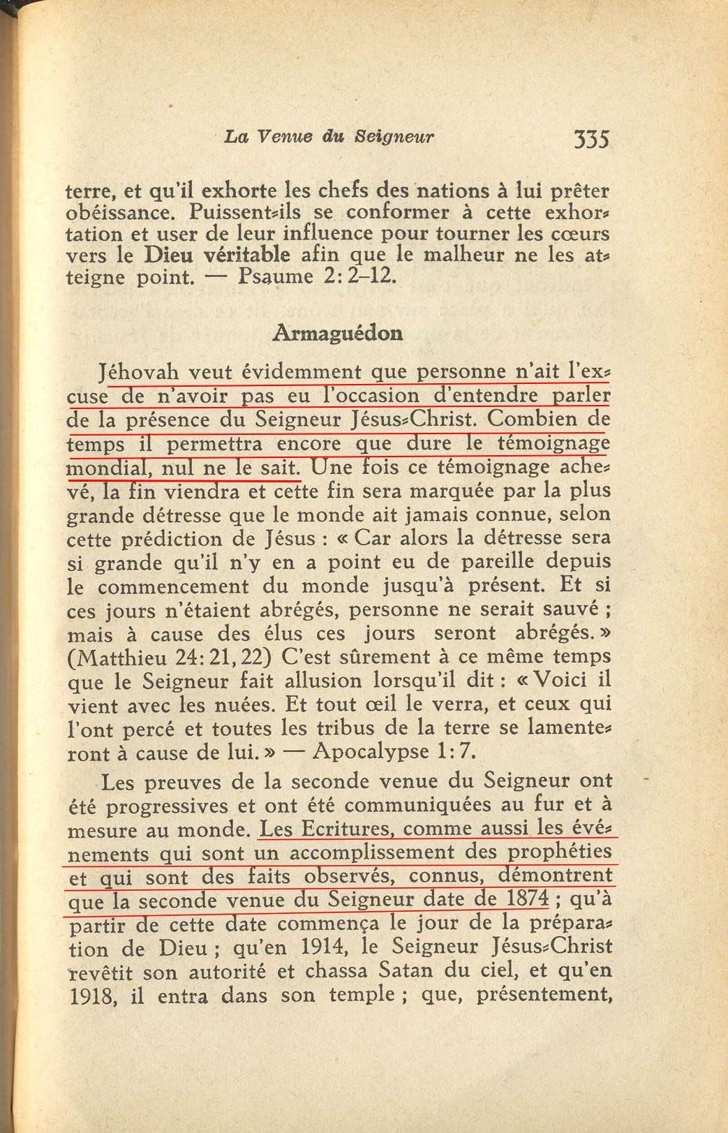 Affirmation de la pr sencede christ sur la terre depuis 1874 - Combien de temps dur un retour de couche ...